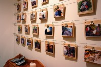Cheap, Easy Photo Display Wall | This photo is part of a ...