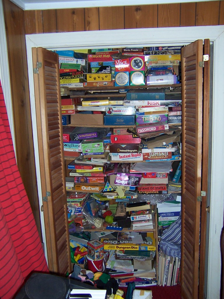 Game closet  Where we keep the board games card games