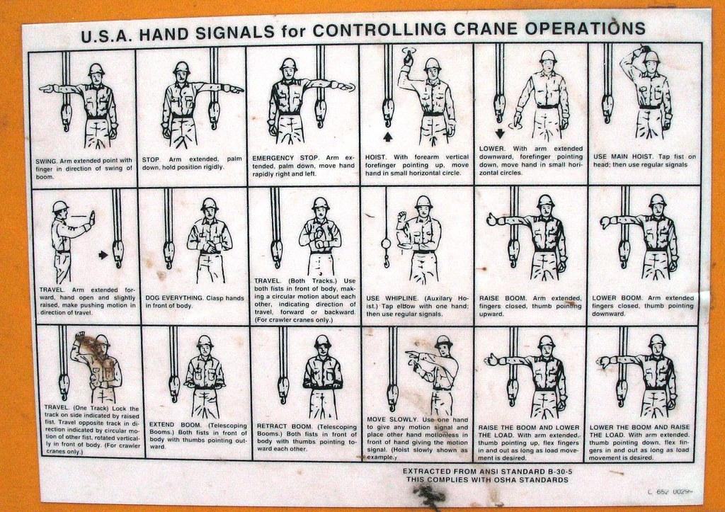 osha standard crane hand