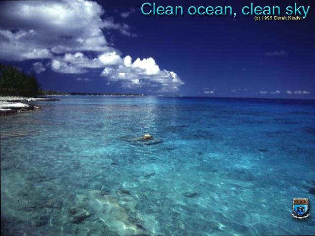 Clean ocean clean sky  Clean ocean clean sky for a