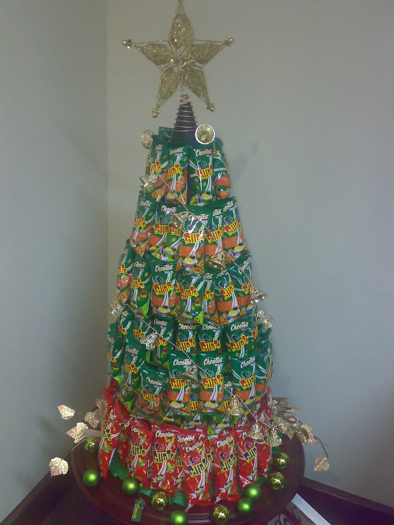 Cheetos Shots Christmas Tree  In the spirit of