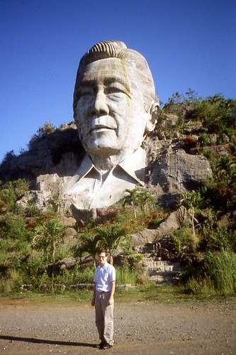 Marcos Bust Baguio  This photo was taken in 1989 when I