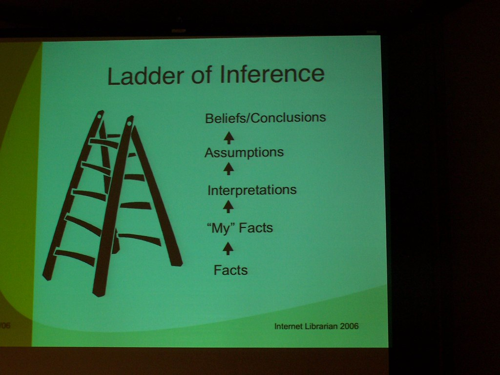 Ladder of Inference  Slide from Synergy for Better