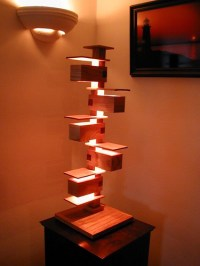 Frank Lloyd Wright style lamp | This is my adaptation of a ...