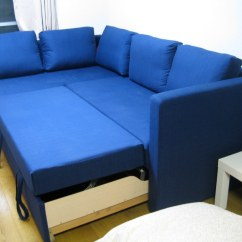 Pull Out Sofa Bed Sectional Two Seat Ransta Dark Grey Fågelbo Couch | The Turns Into A By ...