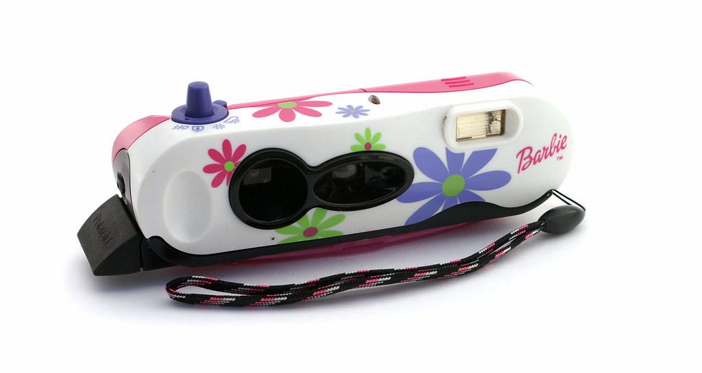 Polaroid iZone Pocket CameraBarbie  Manufactured 1999