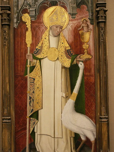 St Hugh Of Lincoln By Unknown French Painter 1490 1500