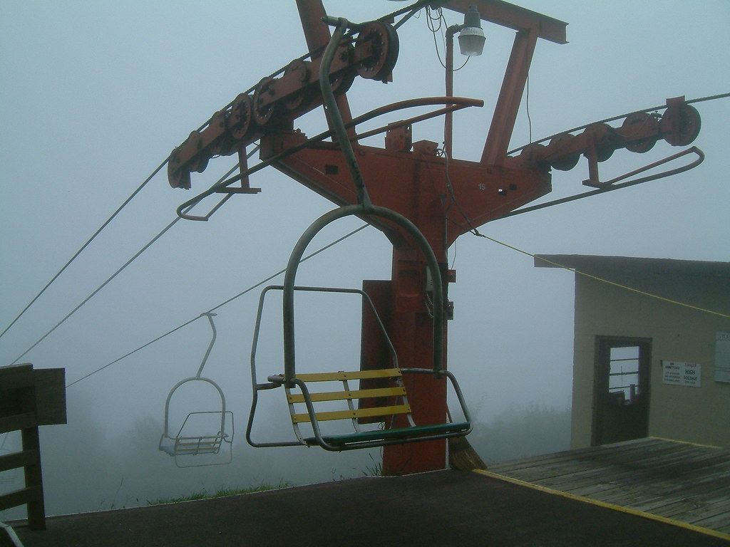 Chair lift Ober Gatlinburg  Chair lift coming out of the