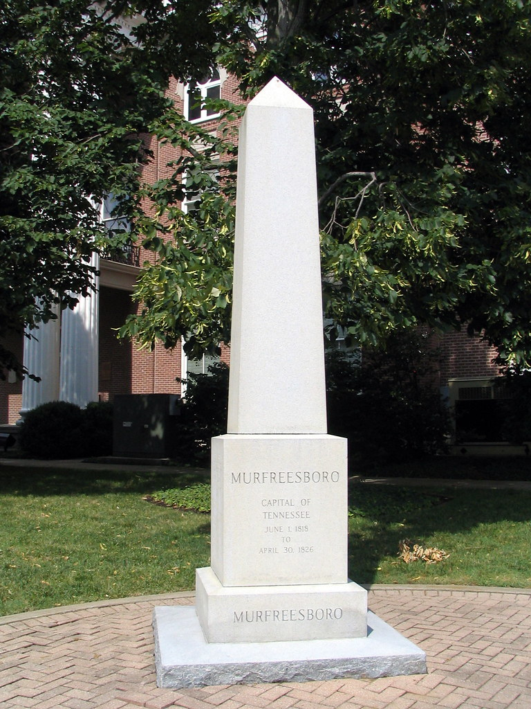Monument Murfreesboro as TN State Capital  the state of