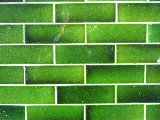 Green tiles  Beautiful green tiles on a longderelict