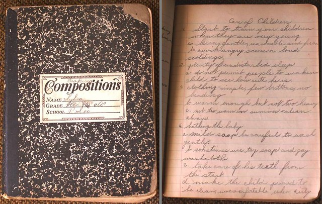 Sylvias Notebook  I remember seeing my mothers grade