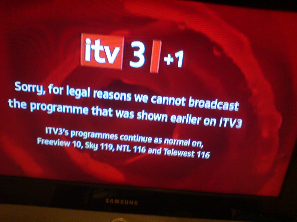 ITV31 dont have rights to show ITV3 shows  Darren