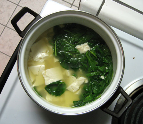 Spinach Tofu Project 365 Day 49 Cooked For The First