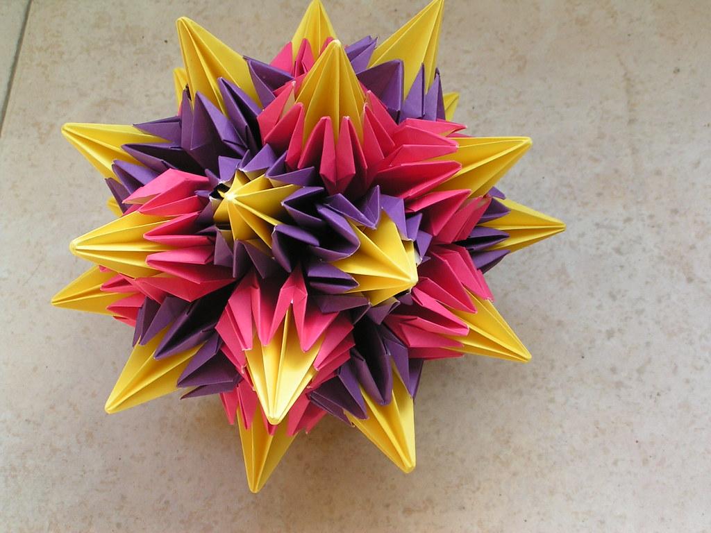cool modular origami diagram three phase system kosudama tomoko fuse gila oren flickr