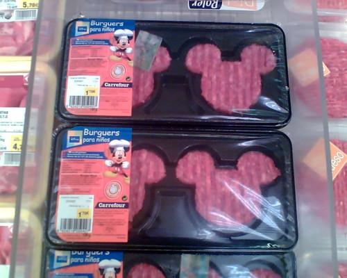 Mickey Mouse shaped burgers  Algo menos apetitoso que