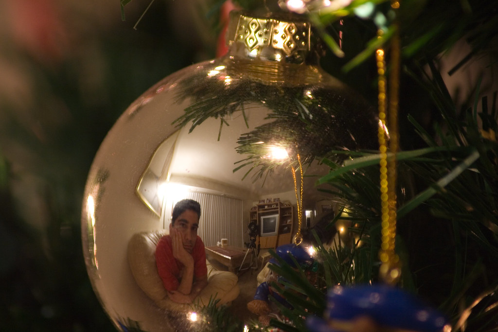 Self Portrait In A Christmas Ornament A Reflection Of Th