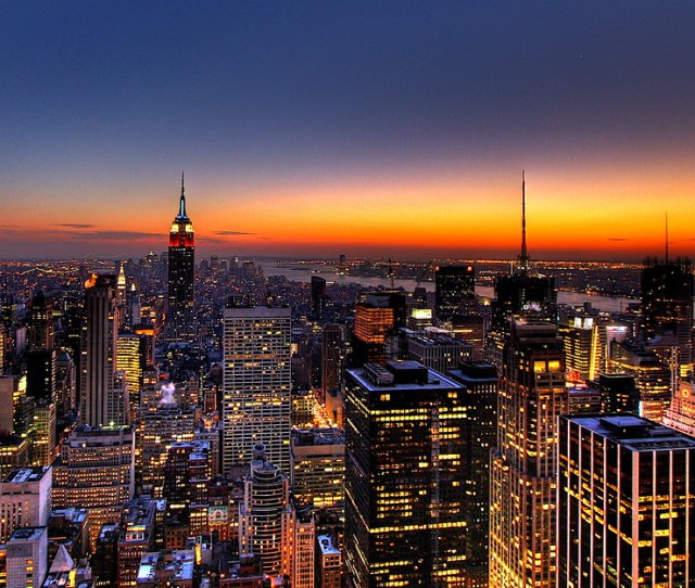 Nyc New York City Skyline Sunset Wallpaper Background By Kaldoon