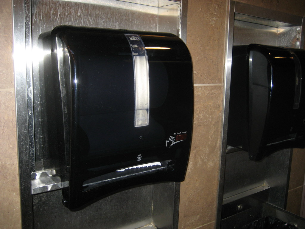 automatic paper towel dispenser for kitchen damascus knife tork brand intuition ii flickr