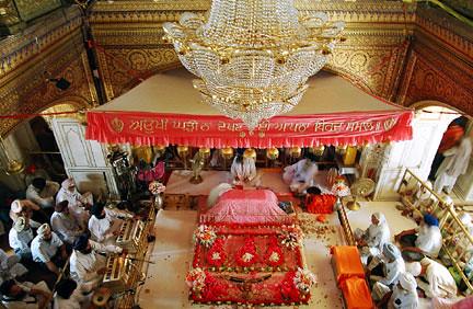 Sri Harmandir Sahib Interior Of The Sanctum Sanctorum