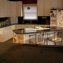 White Kitchen Cabinets Glass Backsplash Black Pearl Granite Kitchen-view 3 | Beautiful Of ...