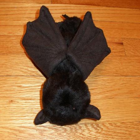 Plush Bat  Plush black faux fur bat with faux suede wings