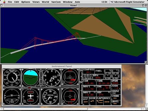 C182  Golden Gate fly by  MS Flight Simulator 40 Mac O