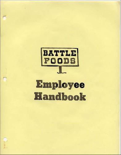 Battle Foods Employee Handbook Cover  The employee