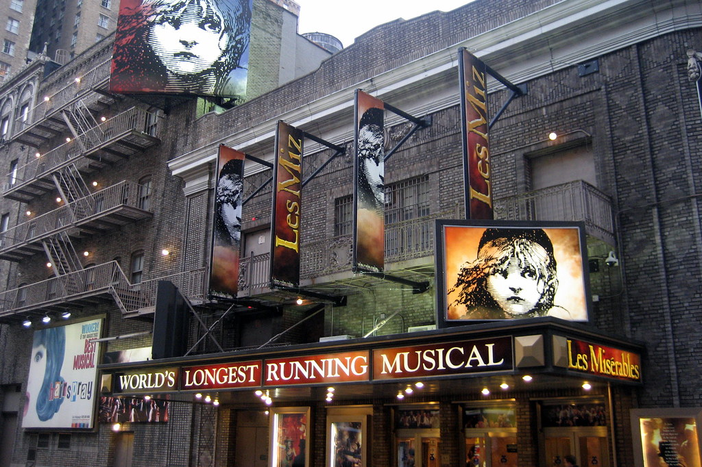 NYC  Theatre District Broadhurst Theatre  Mirror images o  Flickr