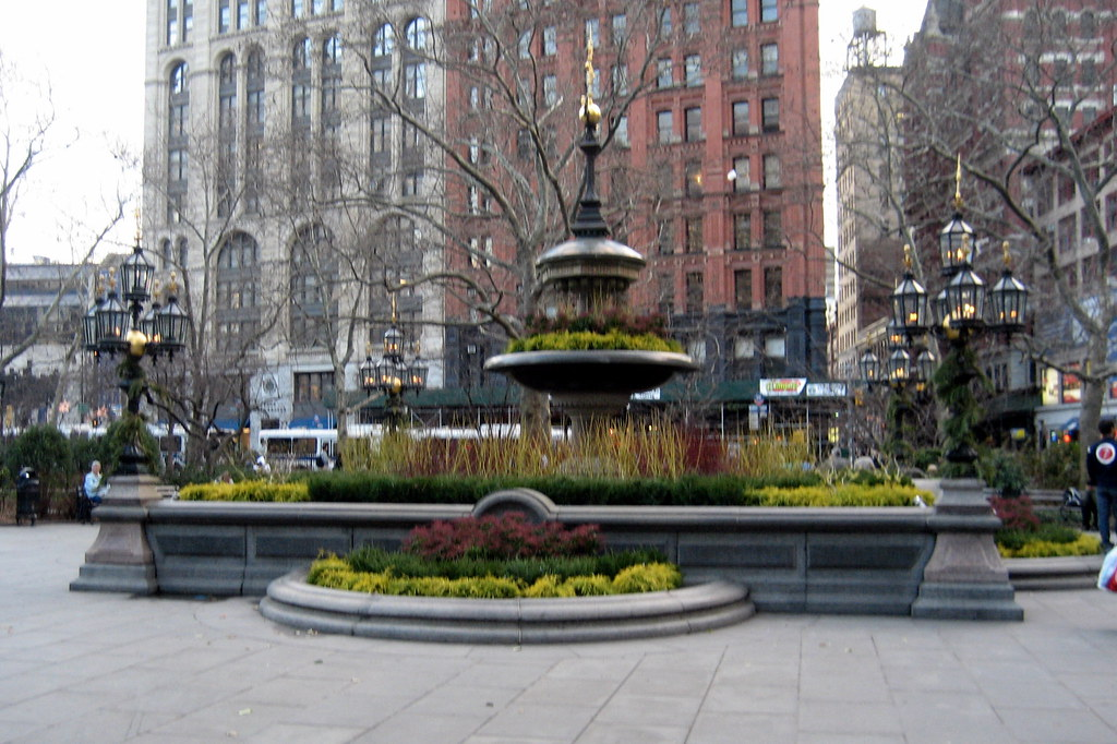 Nyc Civic Center City Hall Park Jacob Wrey Mould Foun