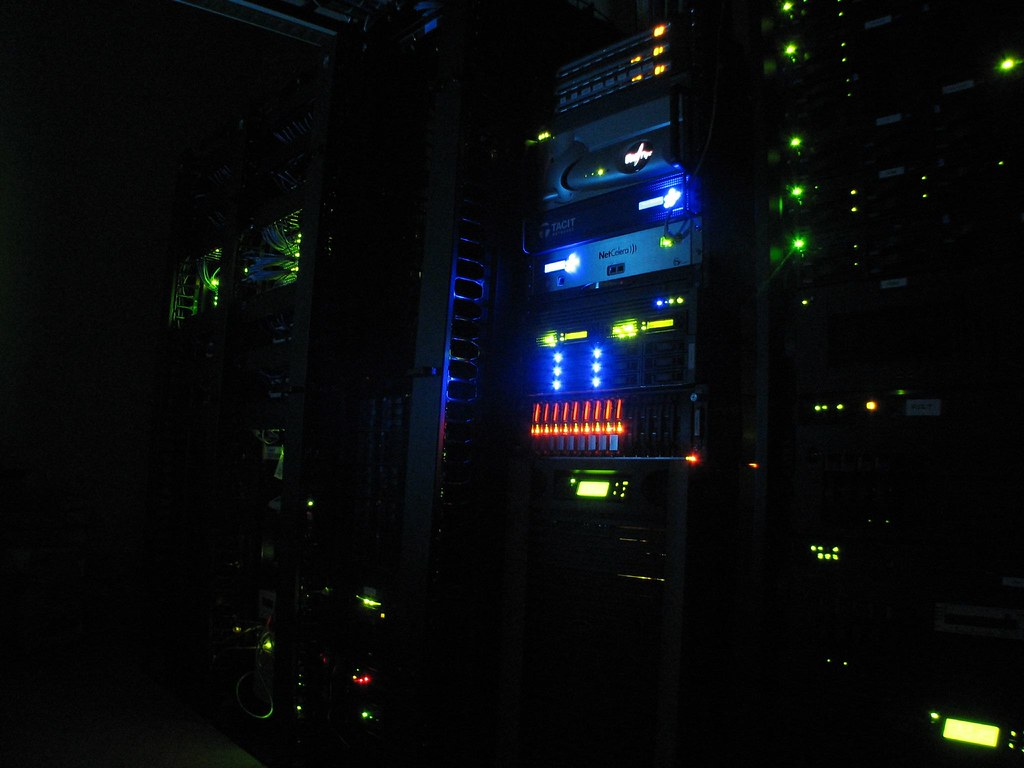Server Room In The Dark Just Showing Off My Lil