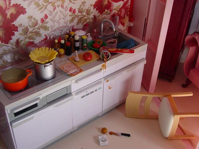 Crime scene in the kitchen  emilystrange74  Flickr