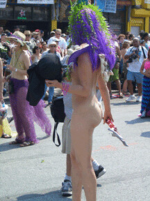 nude mermaid from back  Coney Island Mermaid Parade 2005  Flickr