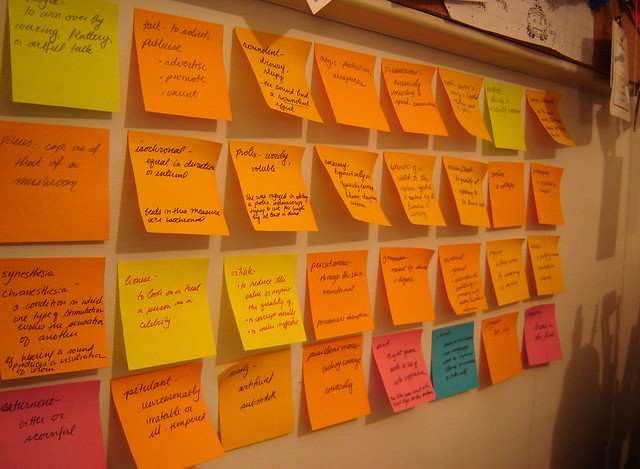 The Great Wall of PostIts  On an unending quest to