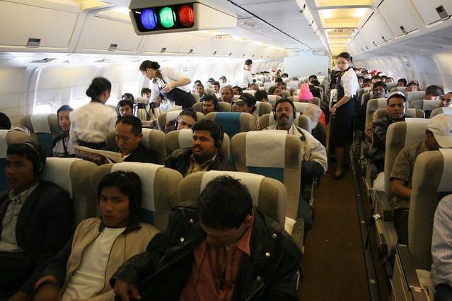 Gulf air economy class Bahrain to Kathmandu  Odd to say