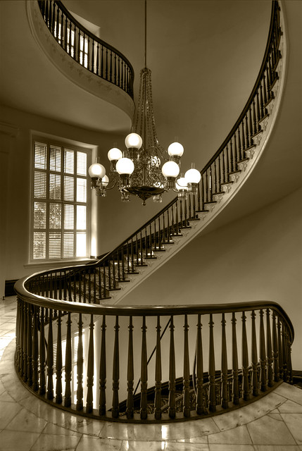 Spiral Staircase Sepia  The stairs in this shot represent