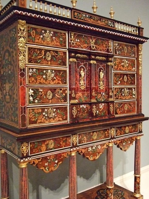 Cabinet on Stand by Pierre Gole French 1660 Ebony kingwood