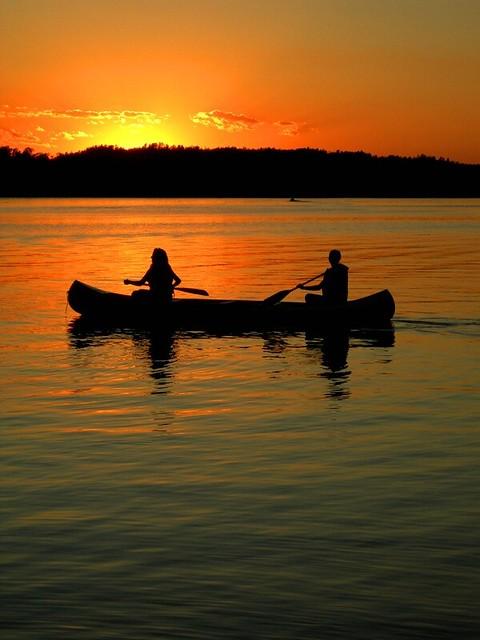 Canoe Sunset  Sunset in the Summertime  Arlo Bates  Flickr