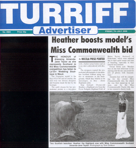 Miss Commonwealth Scotland Amanda Jane Taylor Was Asked To