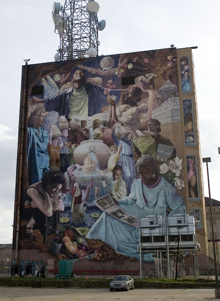 Huge Mural in Downtown Shreveport  Shreveports history