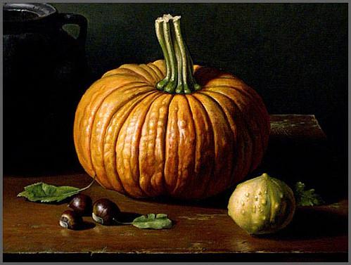 Autumn Still Life  16X20 oil on canvas By David Stevenson