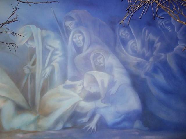 cherokee museum  trail of tears 02  trail of tears mural