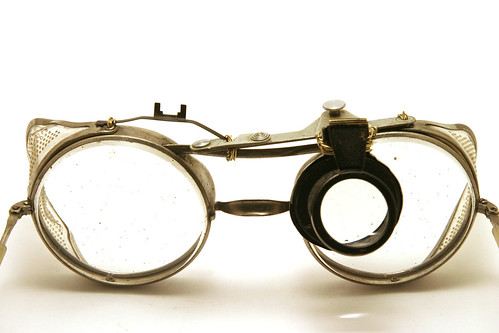 Inventor Glasses front magnifier down  I like that the