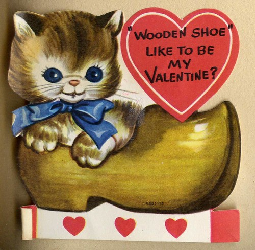 Wooden Shoe Like To Be My Valentine Vintage Children