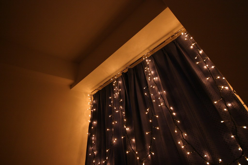 View of my bedroom window with fairy lights  In my Tokyo Ap  Flickr