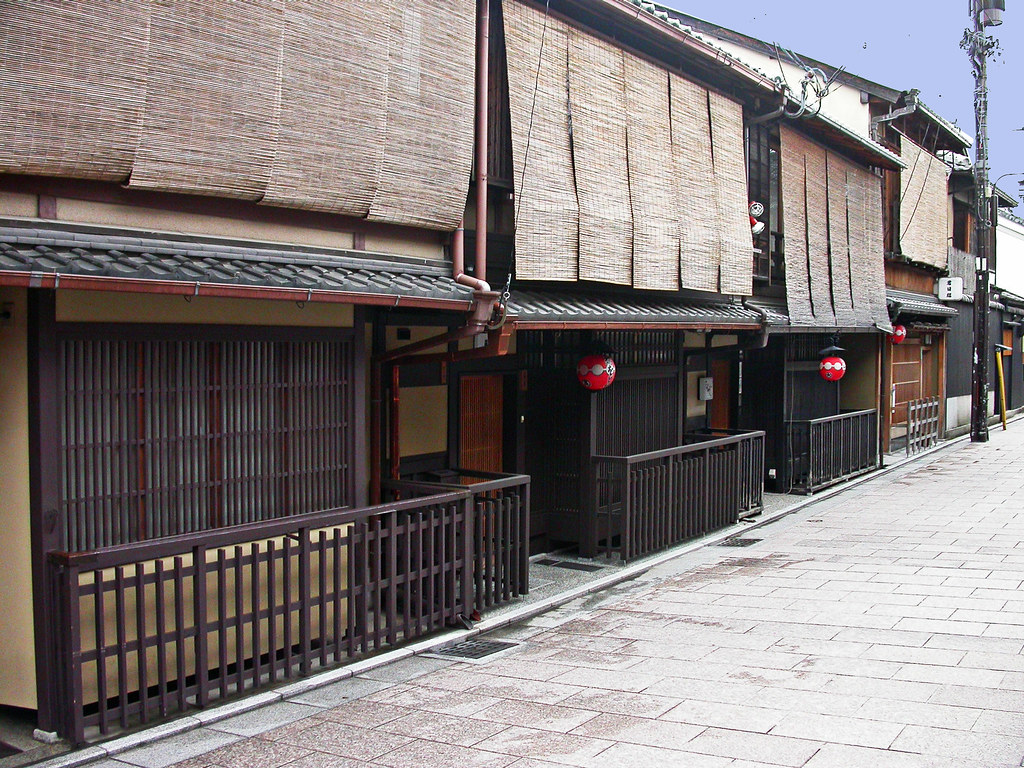 Gion Machiya  Branching off from Hanamikoji are a number