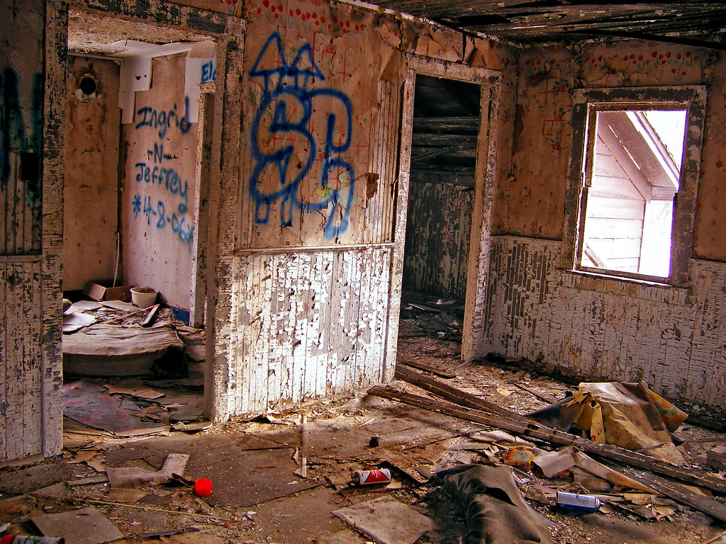 Interior Design  Partial inside view of the abandoned