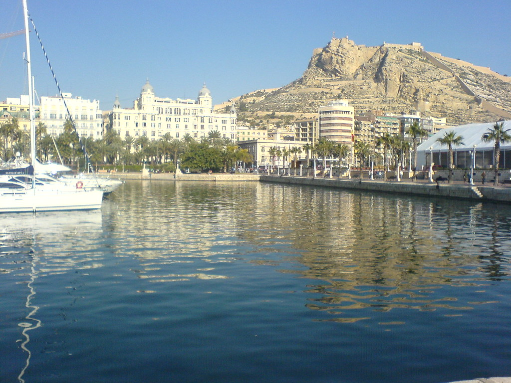 alicante harbour view visited