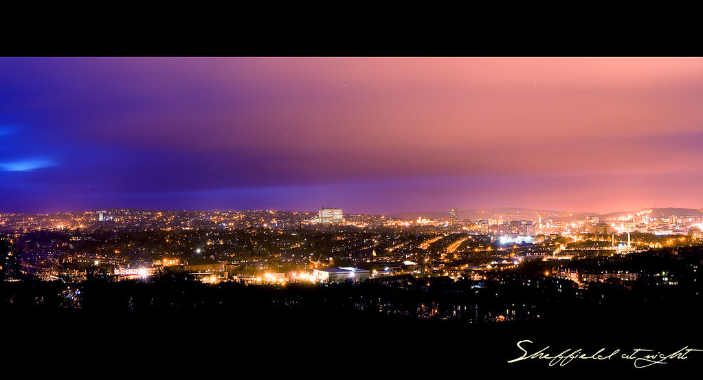 Sheffield at night  Taken at the top of Meersbrook Park I   Flickr