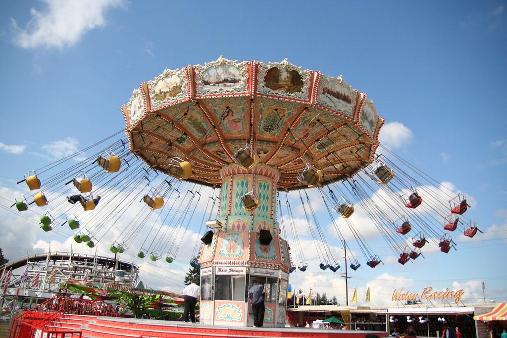 Puyallup Fair Swings  Classic amusement park swings at
