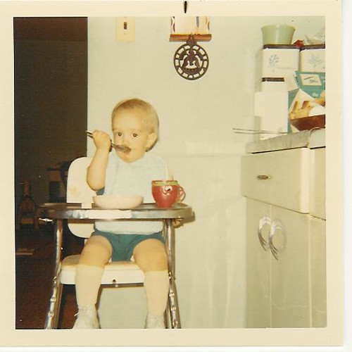 1970 Dave Baby Eating In Highchair Dave Schappell Flickr